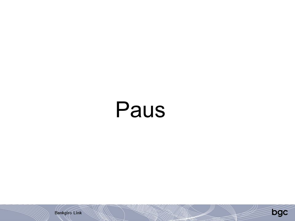 Paus Bankgiro Link