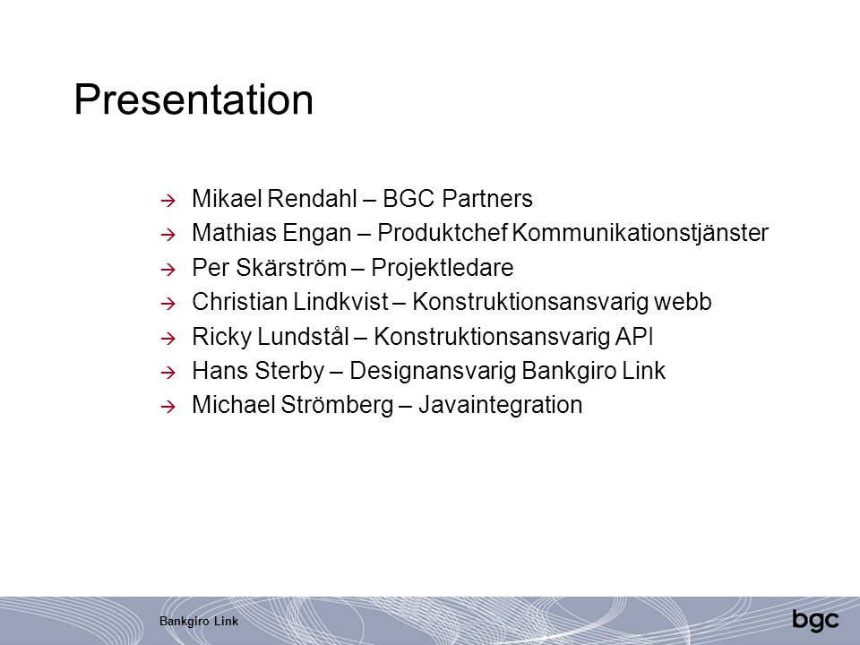 Presentation Mikael Rendahl – BGC Partners