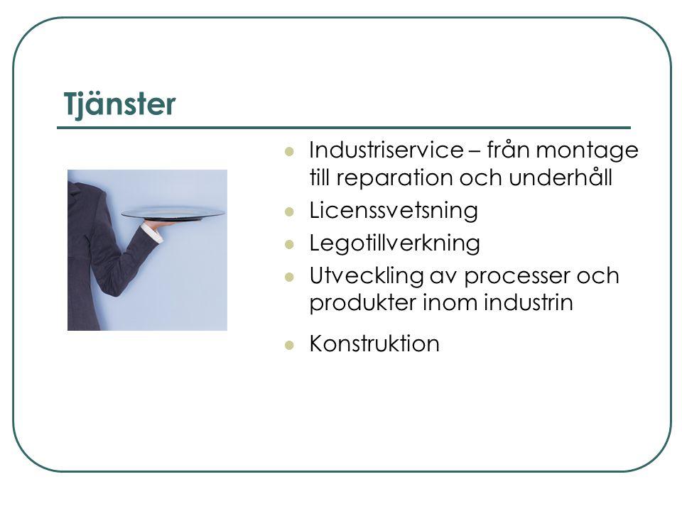 Tjänster Industriservice – från montage till reparation och underhåll