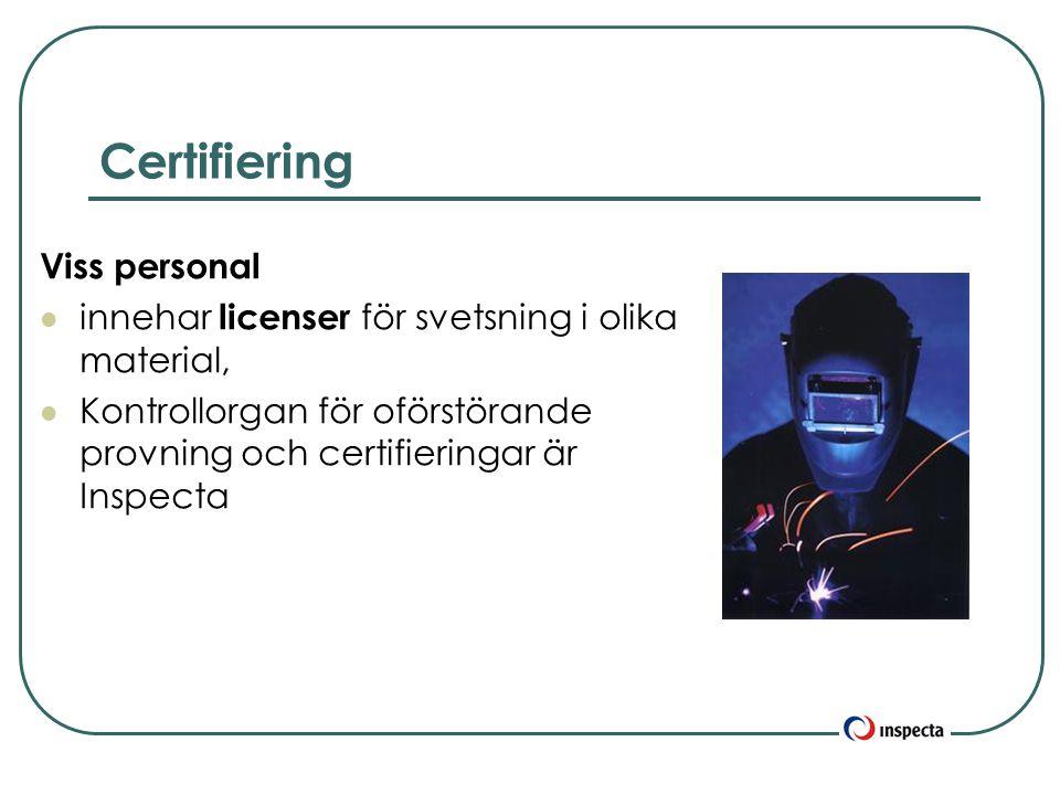 Certifiering Viss personal