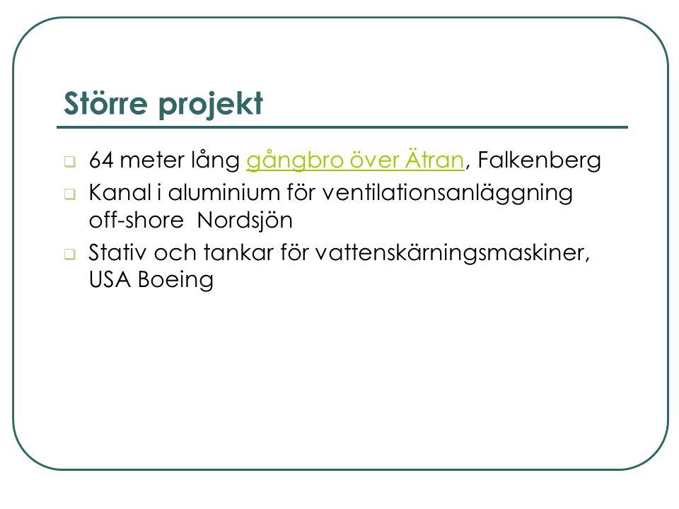 Större projekt 64 meter lång gångbro över Ätran, Falkenberg