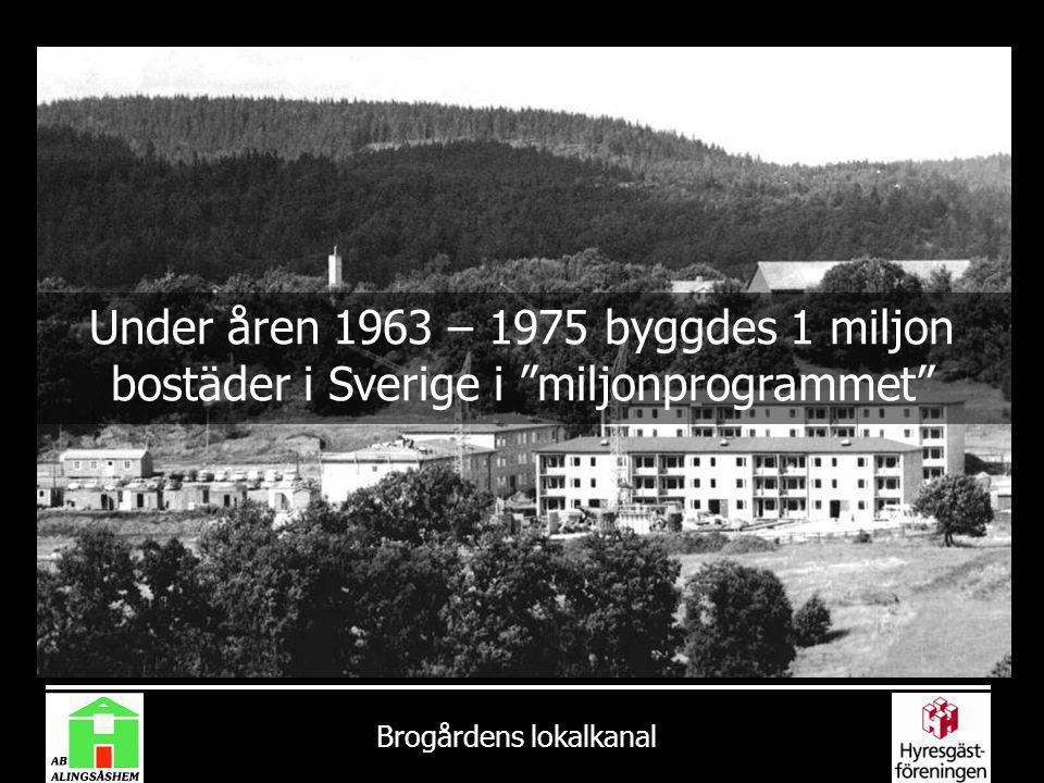 Under åren 1963 – 1975 byggdes 1 miljon bostäder i Sverige i miljonprogrammet