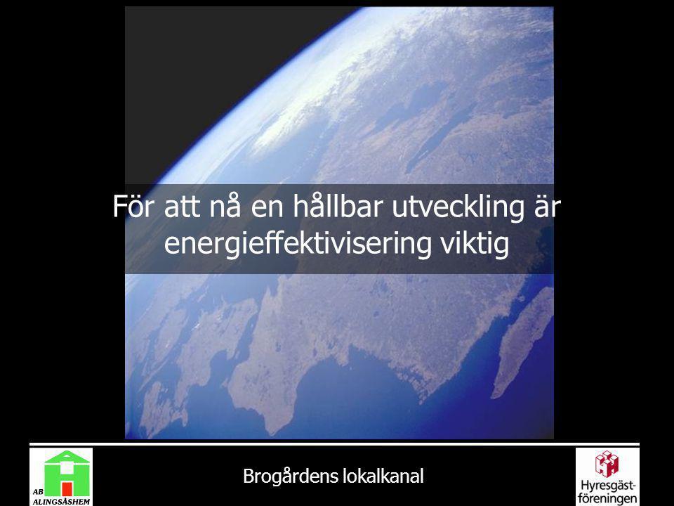 För att nå en hållbar utveckling är energieffektivisering viktig