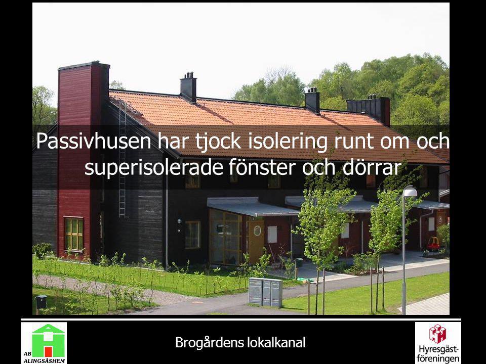 Passivhusen har tjock isolering runt om och superisolerade fönster och dörrar