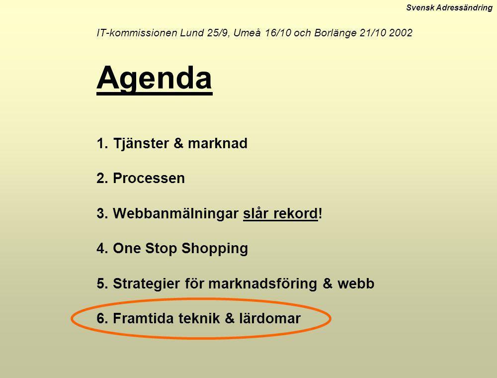 IT-kommissionen Lund 25/9, Umeå 16/10 och Borlänge 21/10 2002 Agenda 1