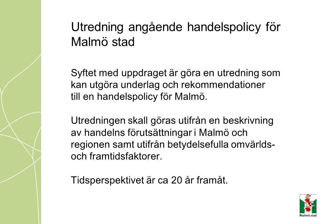 Utredning angående handelspolicy för Malmö stad