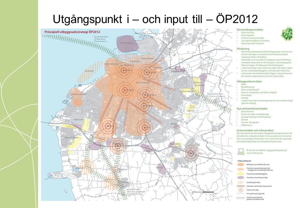 Utgångspunkt i – och input till – ÖP2012