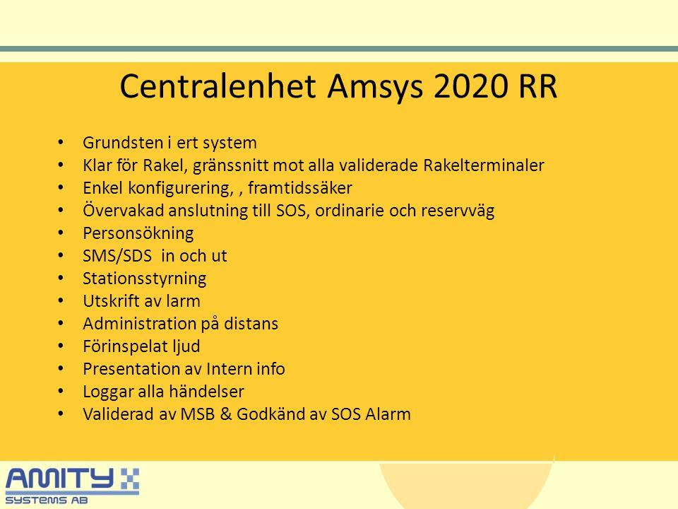 Centralenhet Amsys 2020 RR Grundsten i ert system