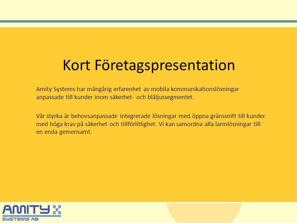 Kort Företagspresentation