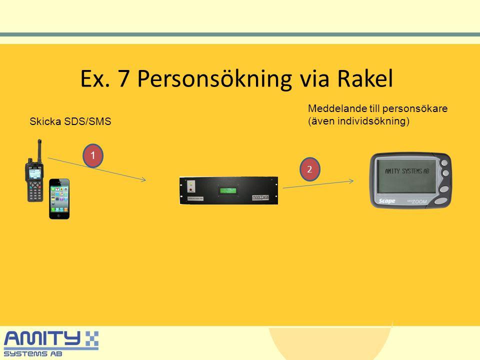 Ex. 7 Personsökning via Rakel