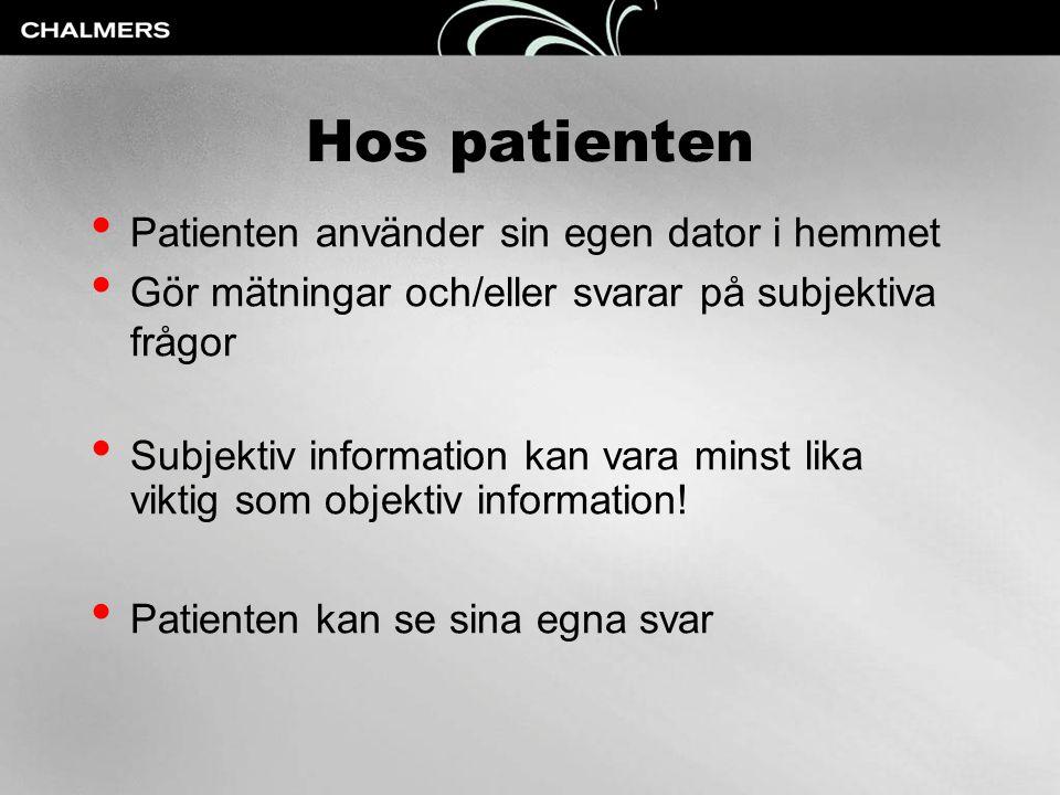 Hos patienten Patienten använder sin egen dator i hemmet
