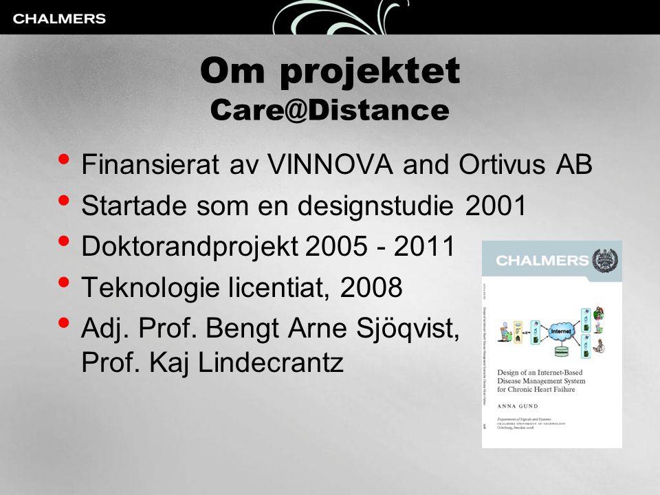 Om projektet Care@Distance