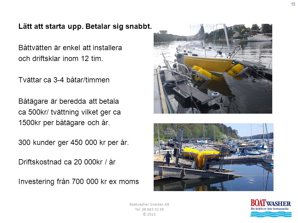 Boatwasher Sweden AB Tel. 08 663 32 39 © 2013