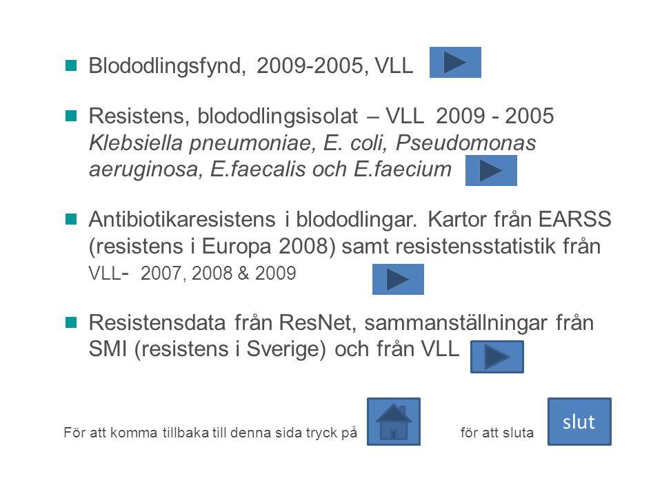 Blododlingsfynd, 2009-2005, VLL