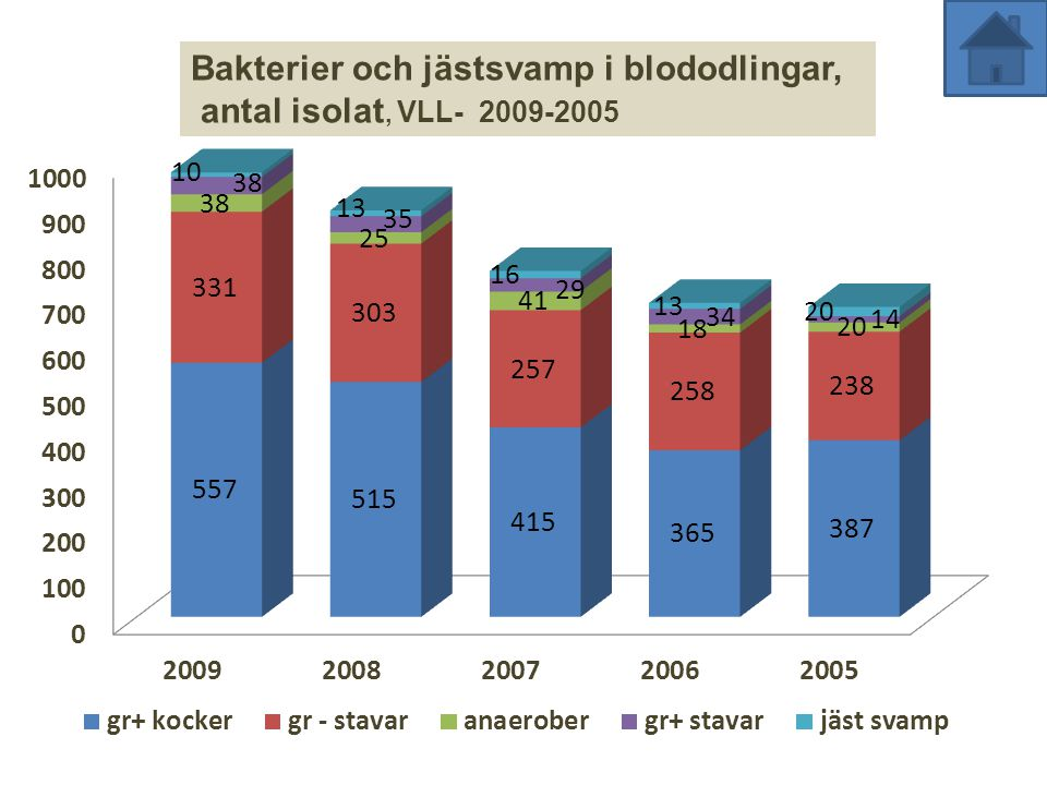 Bakterier och jästsvamp i blododlingar,