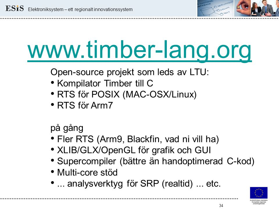 www.timber-lang.org Open-source projekt som leds av LTU:
