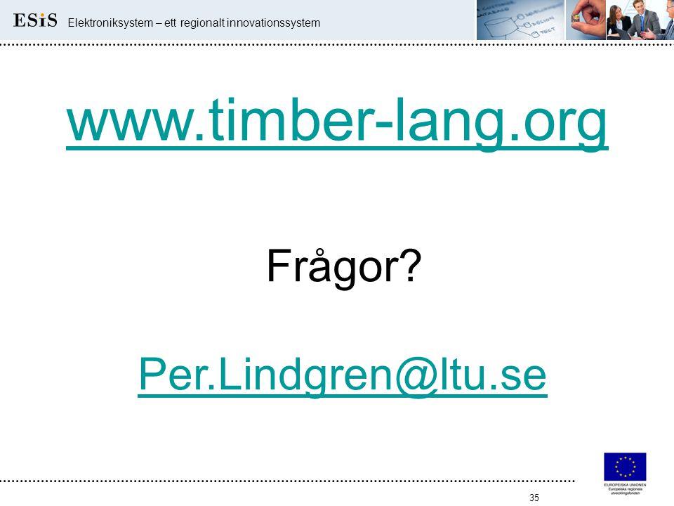 www.timber-lang.org Frågor Per.Lindgren@ltu.se