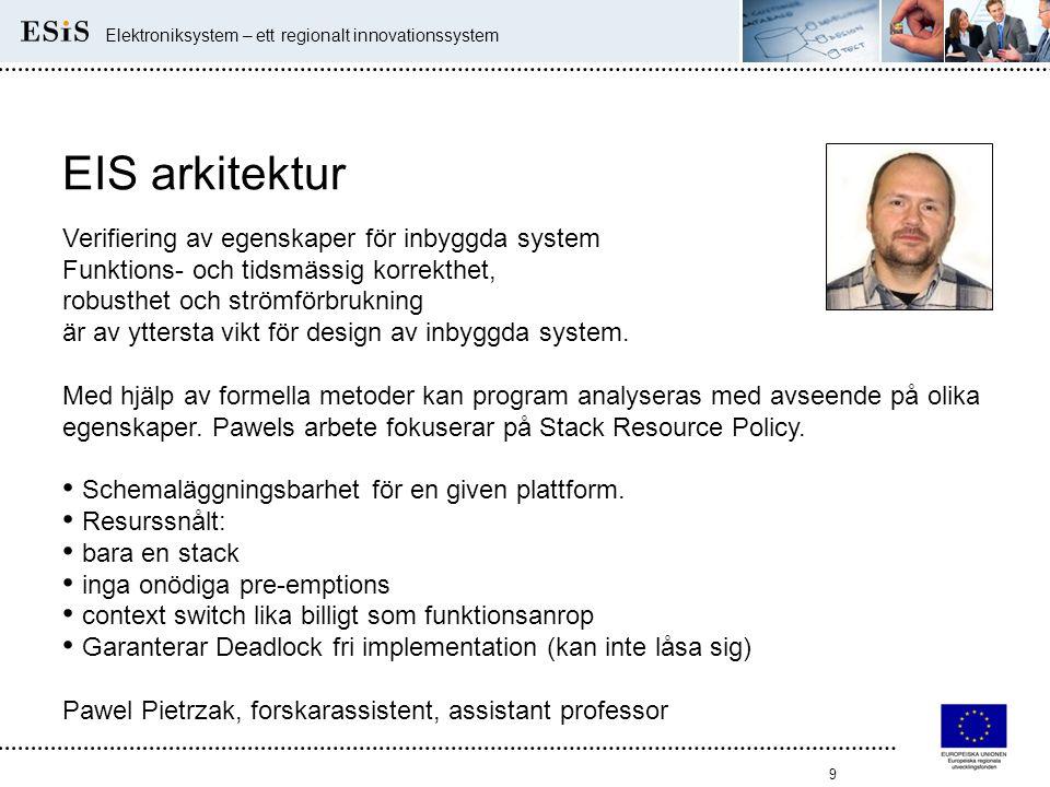 EIS arkitektur Verifiering av egenskaper för inbyggda system