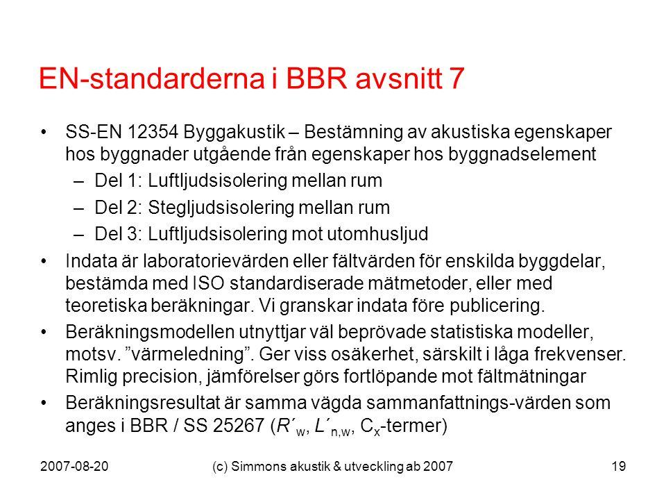 EN-standarderna i BBR avsnitt 7