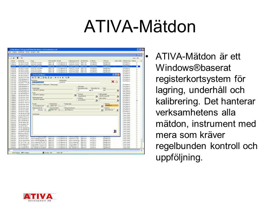 ATIVA-Mätdon
