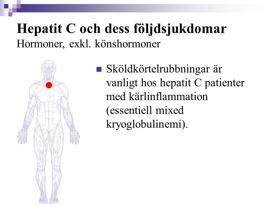 Hepatit C och dess följdsjukdomar Hormoner, exkl. könshormoner