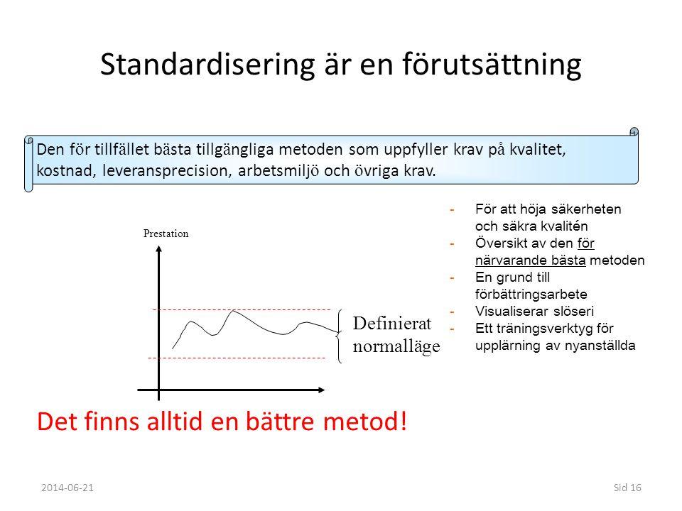 Standardisering är en förutsättning