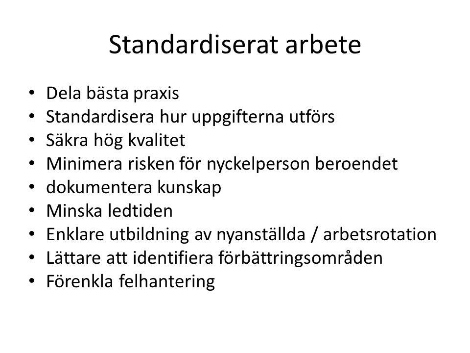 Standardiserat arbete