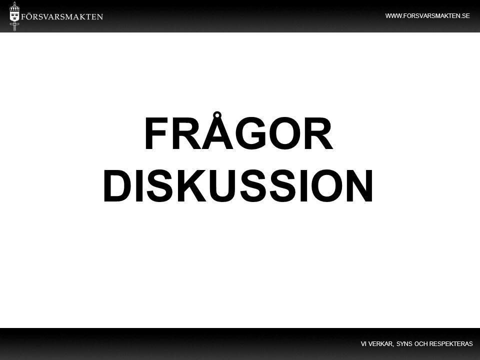 FRÅGOR DISKUSSION