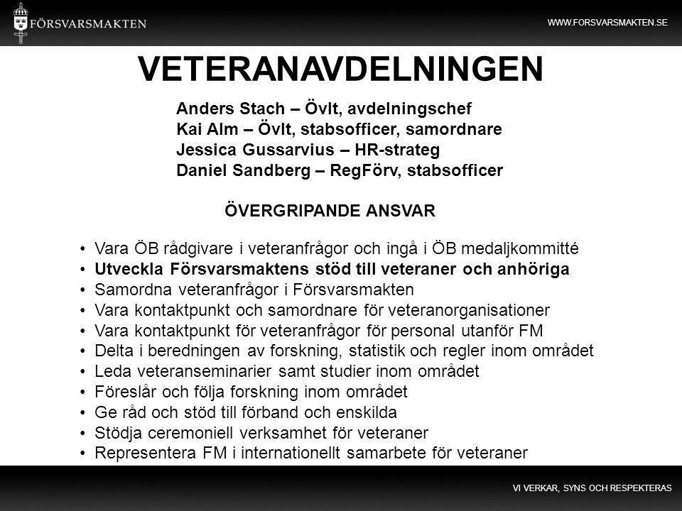 VETERANAVDELNINGEN Anders Stach – Övlt, avdelningschef