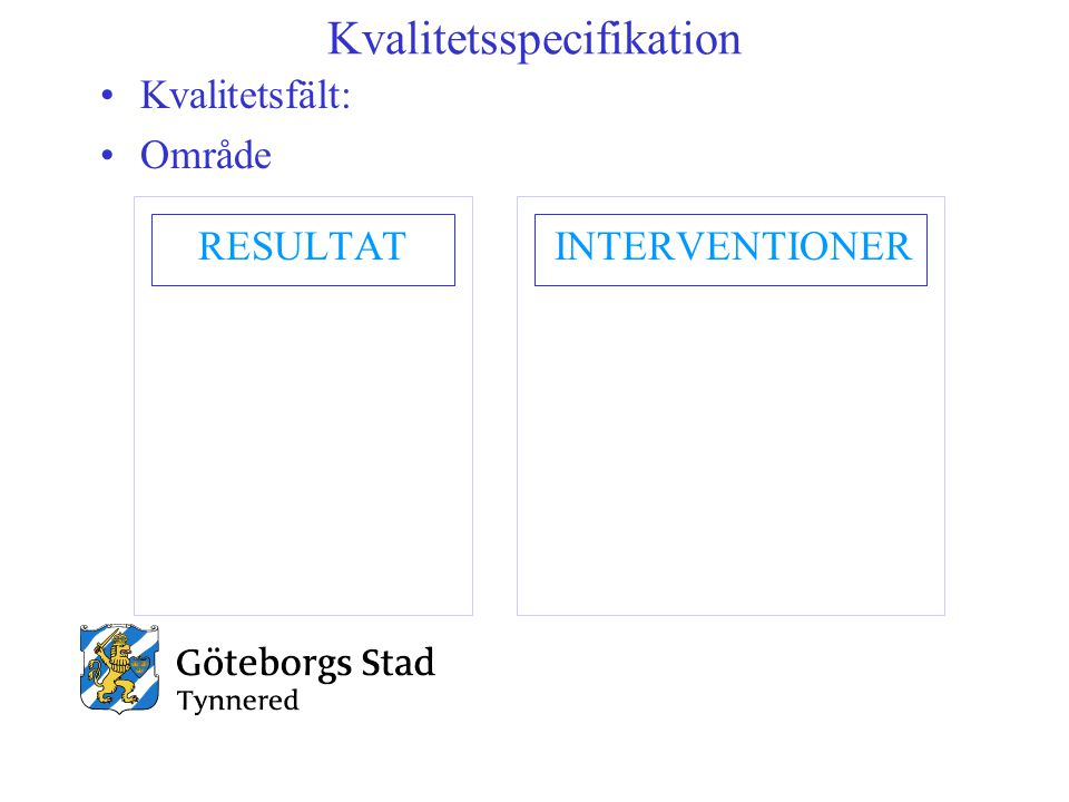 Kvalitetsspecifikation