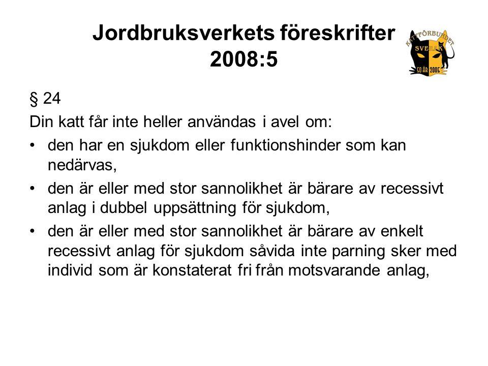Jordbruksverkets föreskrifter 2008:5