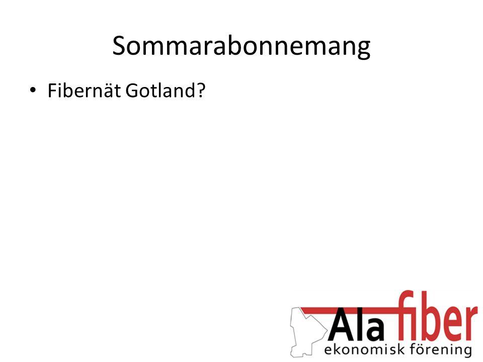 Sommarabonnemang Fibernät Gotland