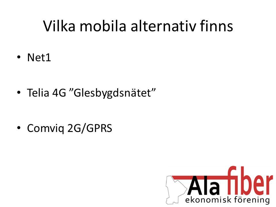 Vilka mobila alternativ finns