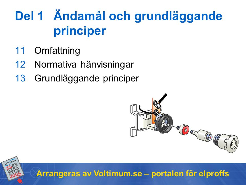 Del 1 Ändamål och grundläggande principer