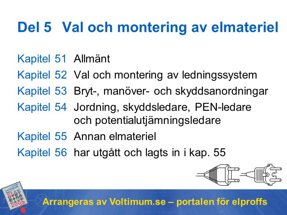 Del 5 Val och montering av elmateriel
