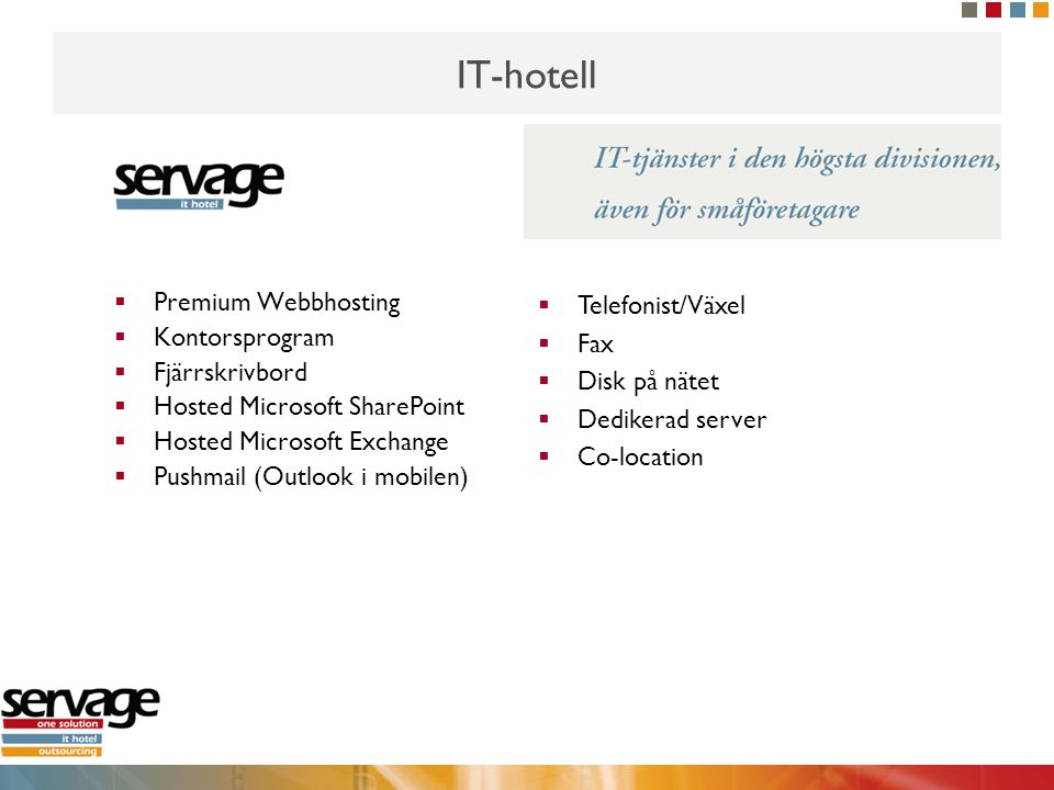 IT-hotell Premium Webbhosting Kontorsprogram Fjärrskrivbord