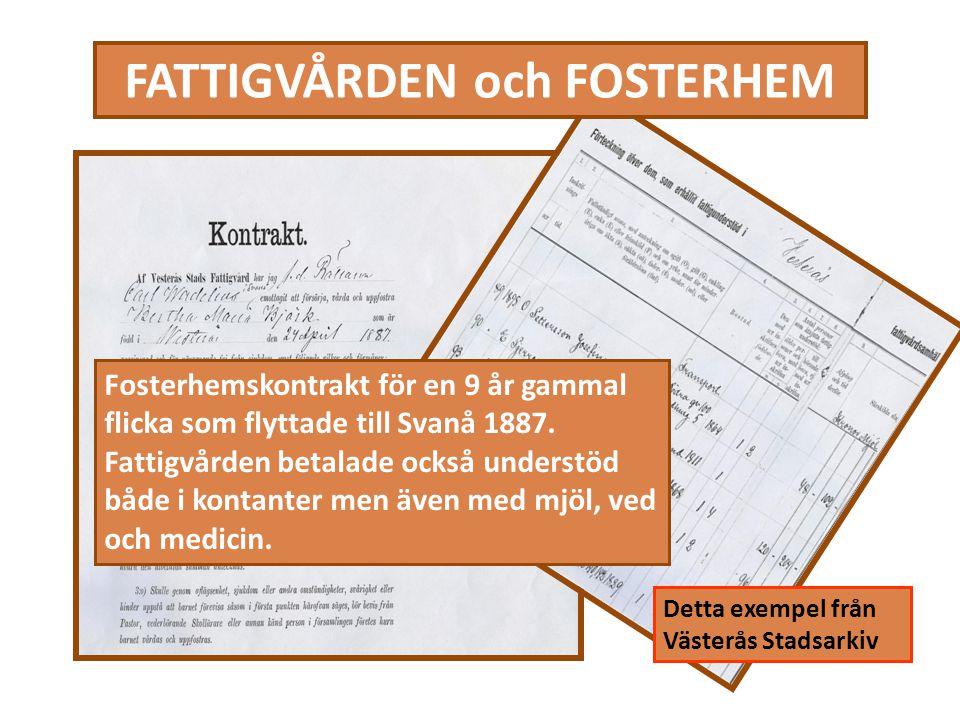 FATTIGVÅRDEN och FOSTERHEM