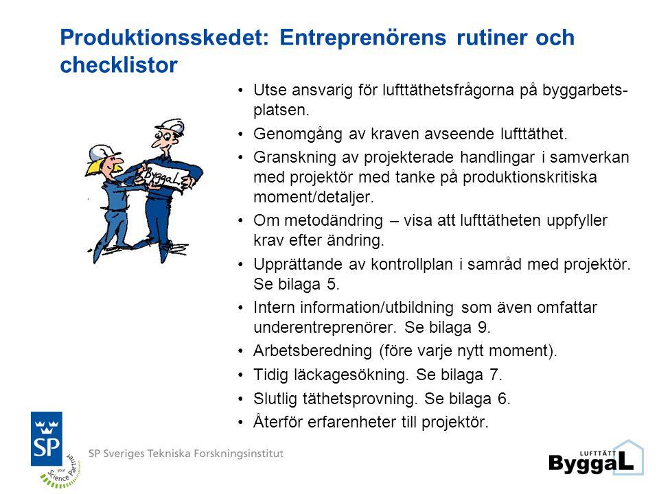Produktionsskedet: Entreprenörens rutiner och checklistor