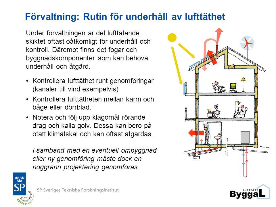 Förvaltning: Rutin för underhåll av lufttäthet
