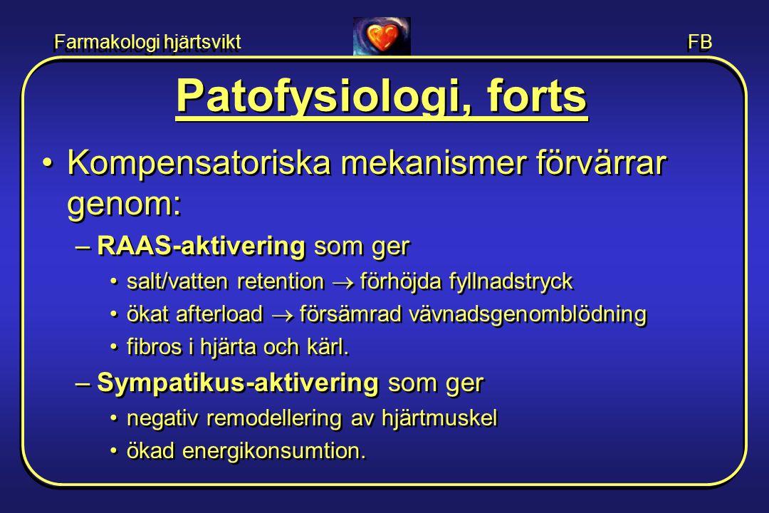 Patofysiologi, forts Kompensatoriska mekanismer förvärrar genom: