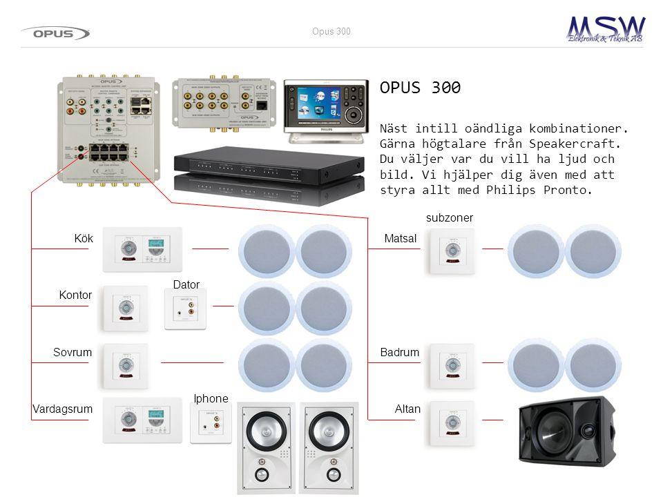 OPUS 300 Näst intill oändliga kombinationer.