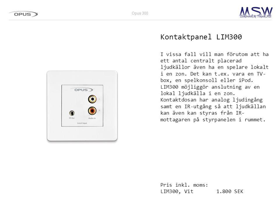 Opus 300 Kontaktpanel LIM300.