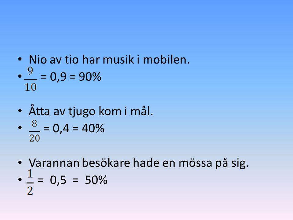 Nio av tio har musik i mobilen.