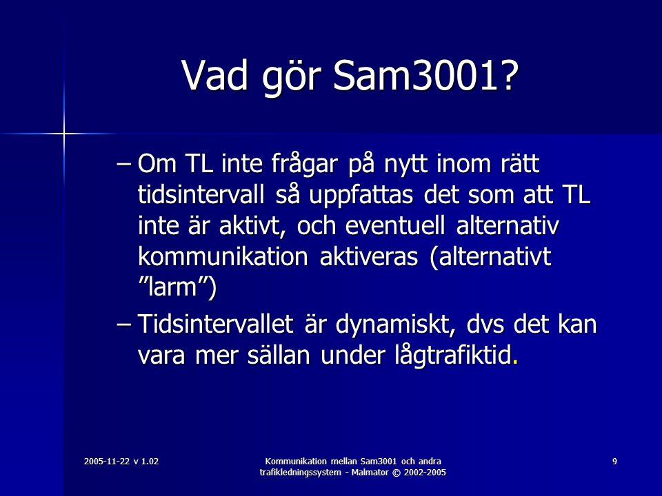 Vad gör Sam3001
