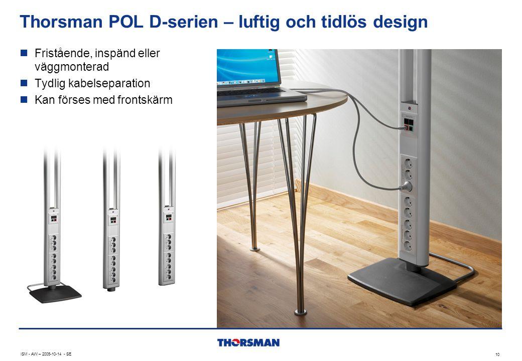 Thorsman POL D-serien – luftig och tidlös design