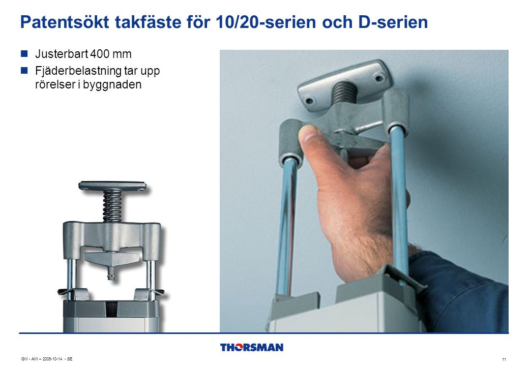 Patentsökt takfäste för 10/20-serien och D-serien