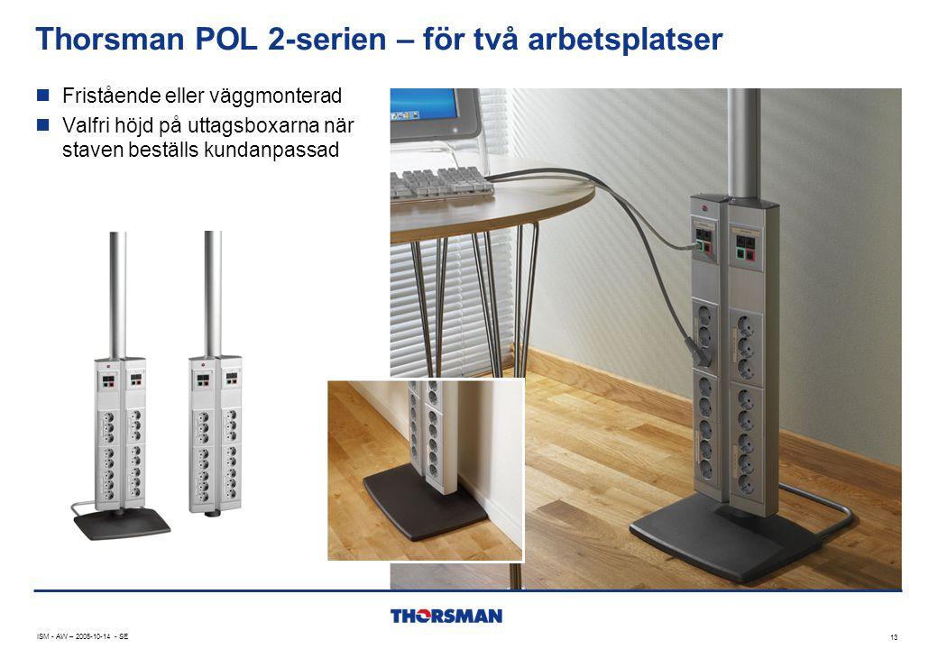 Thorsman POL 2-serien – för två arbetsplatser