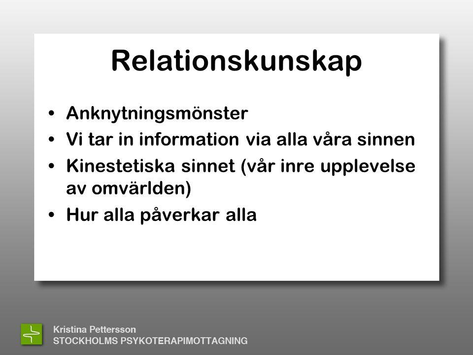 Relationskunskap Anknytningsmönster