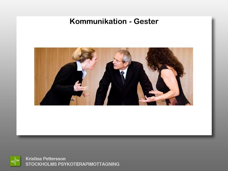 Kommunikation - Gester