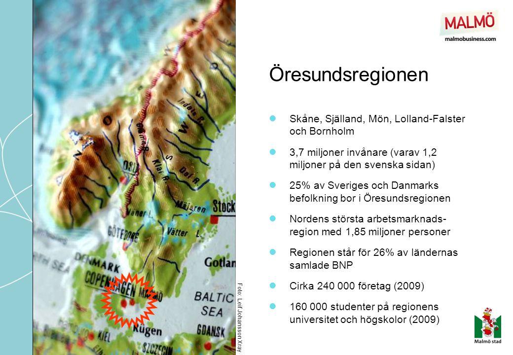 Öresundsregionen Skåne, Själland, Mön, Lolland-Falster och Bornholm